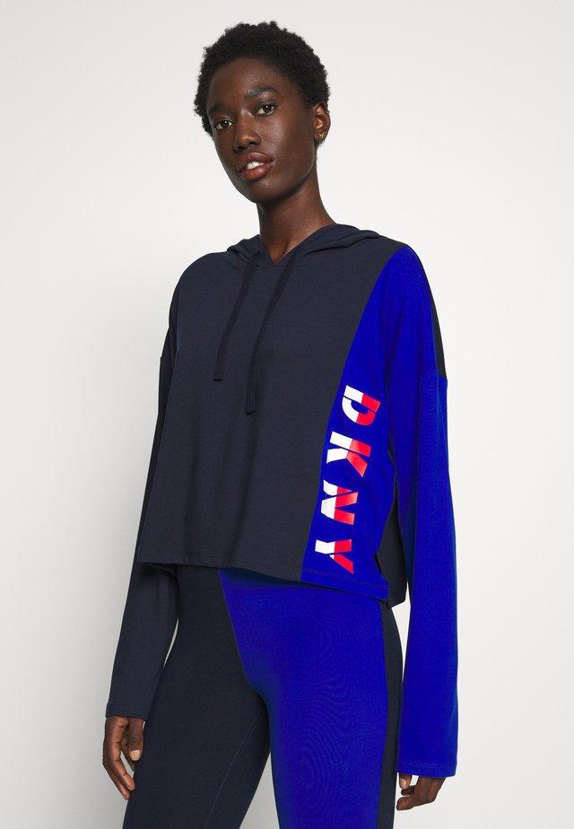 CROP HOODIE - Camiseta de pijama - dark blue