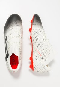 adidas Performance - NEMEZIZ 18.2 FG - Moulded stud football boots - offwhite/core black/active red - 1