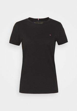 HERITAGE CREW NECK TEE - T-paita - black