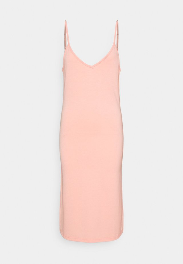 V NECK CAMI SPLIT SIDE MIDI DRESS - Robe en jersey - peach melba