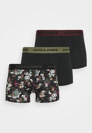 JACFLOWER 3 PACK - Pants - black