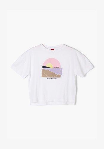 MIT FRONTPRINT - Print T-shirt - white