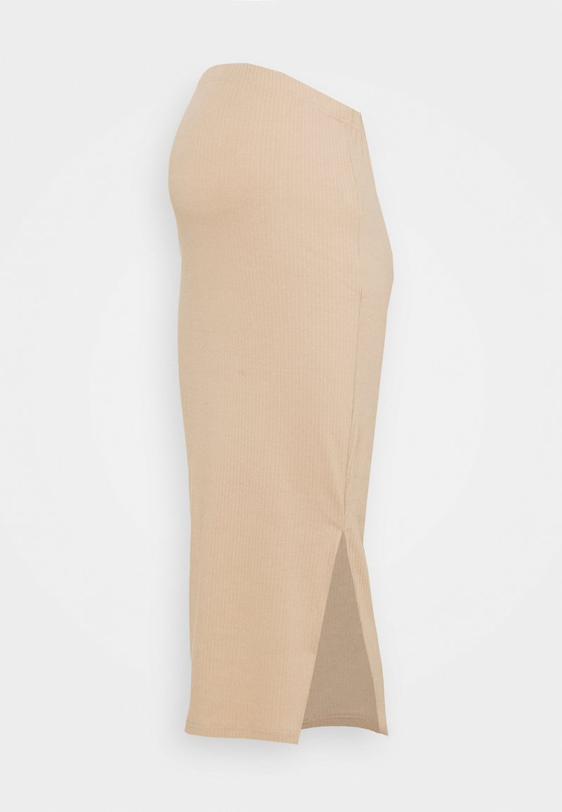 Missguided Maternity - SPLIT SIDE MIDI SKIRT - Pencil skirt - brown