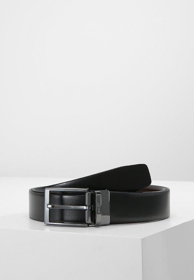 GUTEL BUSINESS - Formální pásek - black/brown
