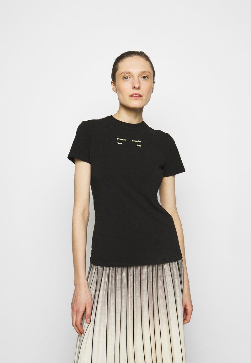 Proenza Schouler White Label - SOLID STRETCH - Print T-shirt - black