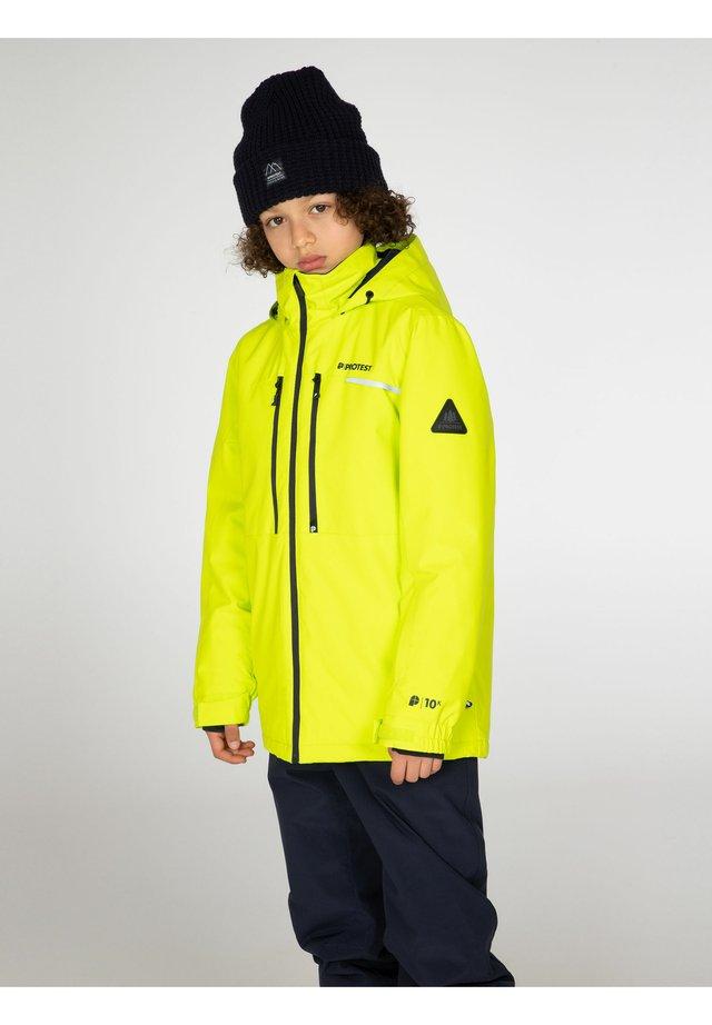 Ski jacket - lime rocks