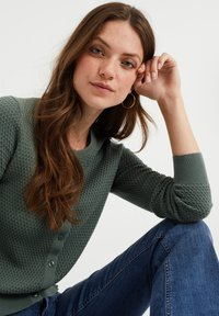 WE Fashion - Cardigan - olive green - 4