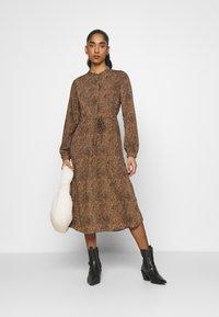 Vila - VIKOLINA TIE STRING DRESS - Day dress - tobacco brown - 1