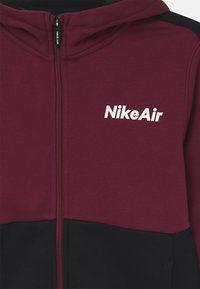 Nike Sportswear - AIR HOODIE - Zip-up hoodie - dark beetroot/black - 2