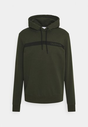BOLD STRIPE LOGO HOODIE - Sweat à capuche - green