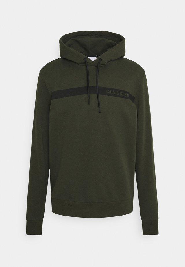 BOLD STRIPE LOGO HOODIE - Sweatshirt - green