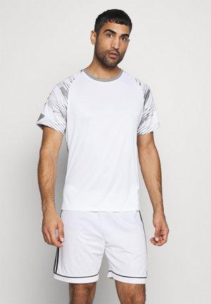 T-shirt con stampa - brilliant white/frost gray