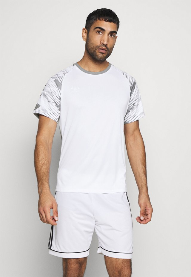T-shirt con stampa - brilliant white/frost gray