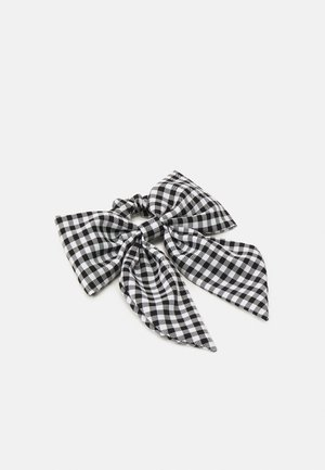 SCRUNCHIE HAIR BOW - Hair styling accessory - black/white