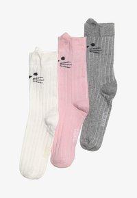 Ewers - KATZE 3 PACK - Socks - altrosa/latte/grau - 3