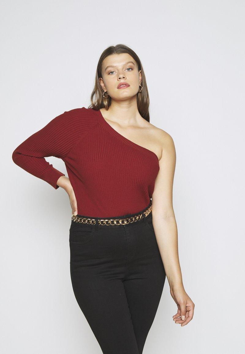 Glamorous Curve - ONE SHOULDER - Long sleeved top - cinnamon