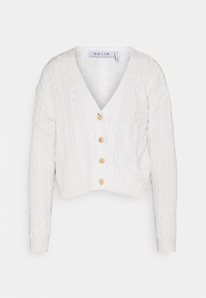 CROPPED CABLE CARDIGAN - Vest - off white