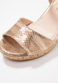 Dorothy Perkins - RHONDA WEDGE - High heeled sandals - gold - 2