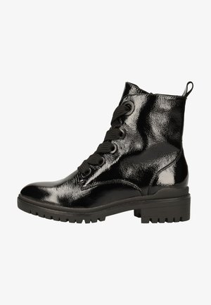 Lace-up ankle boots - black naplak 017