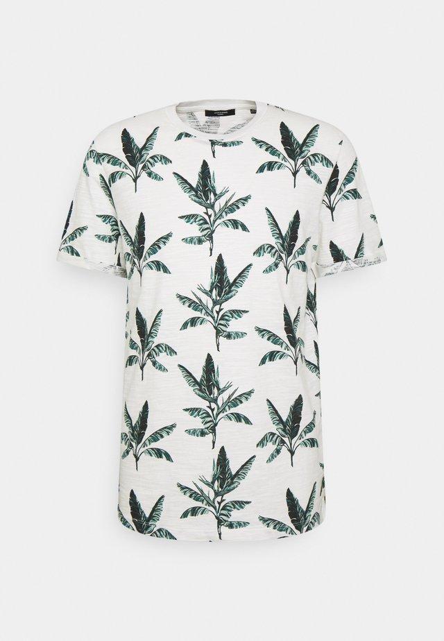 JPRBLABEACH TEE - T-shirt con stampa - egret