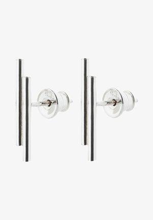 DOUBLE PIPE  - Boucles d'oreilles - silver