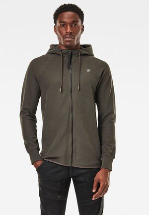 TONAL JIRGI HOOD LONG SLEEVE - veste en sweat zippée - asfalt