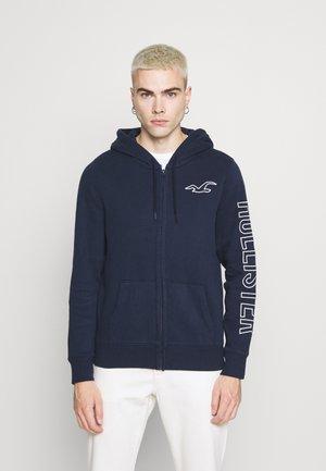 TONAL TECH - Zip-up sweatshirt - navy