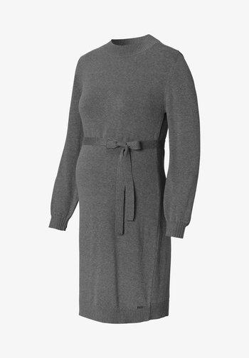 Sukienka dzianinowa - anthracite melange