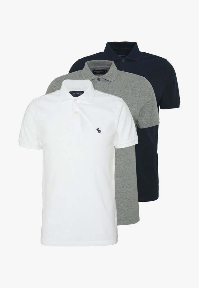 MULTIPACK 3 PACK - Polo - navy/grey/white