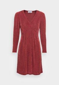 Closet - V NECK DRESS - Jersey dress - burgandy - 3