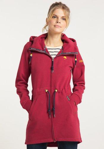 Zip-up sweatshirt - rot