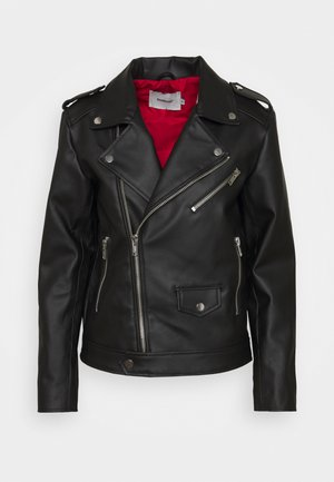 RIVER CACTUS  - Faux leather jacket - black