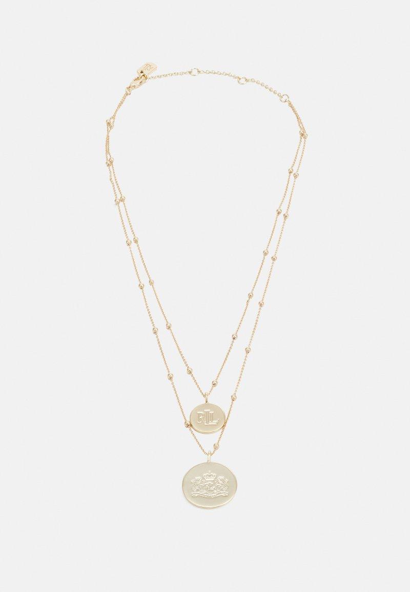 Lauren Ralph Lauren - ROW LOGO PENDANT - Necklace - gold-coloured