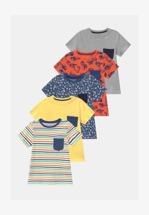 5 PACK - T-shirt imprimé - orange/yellow/grey