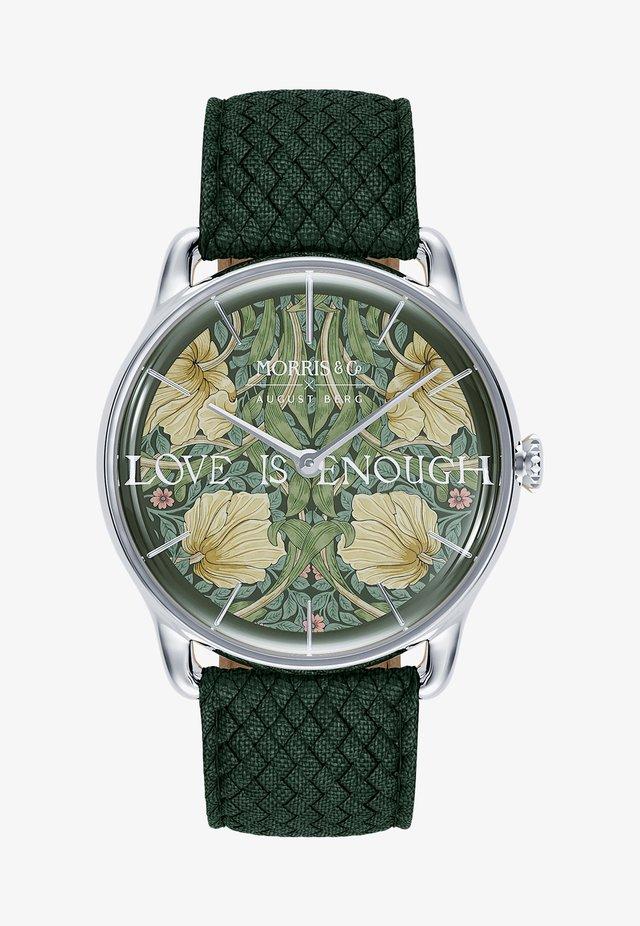 UHR MORRIS & CO SILVER GREEN PERLON 38MM - Horloge - fennel