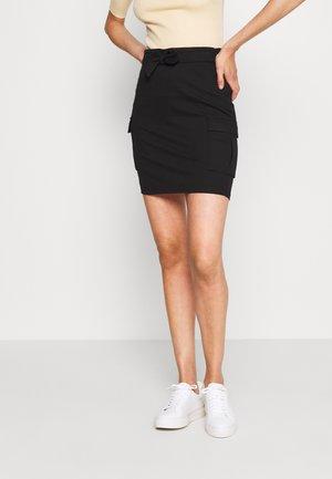 ONLPOPTRASH CARGO BELT SKIRT  - Mini skirt - black