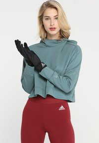 adidas Performance - GLOVES - Gloves - black/black/reflective silver - 0