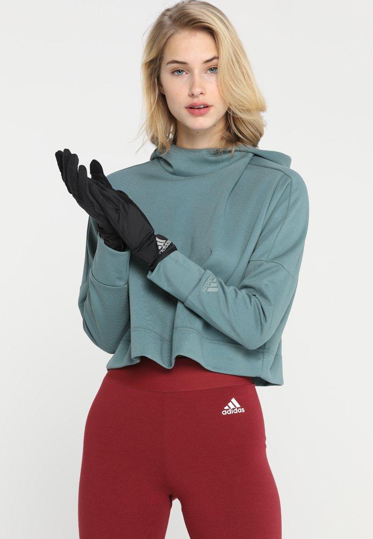 adidas Performance - GLOVES - Gloves - black/black/reflective silver