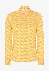 Eterna - MODERN CLASSIC - Button-down blouse - gelb/weiss - 3