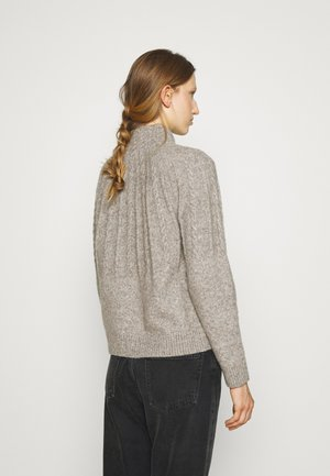 AISHA EMILY CARDIGAN - Strickjacke - light grey