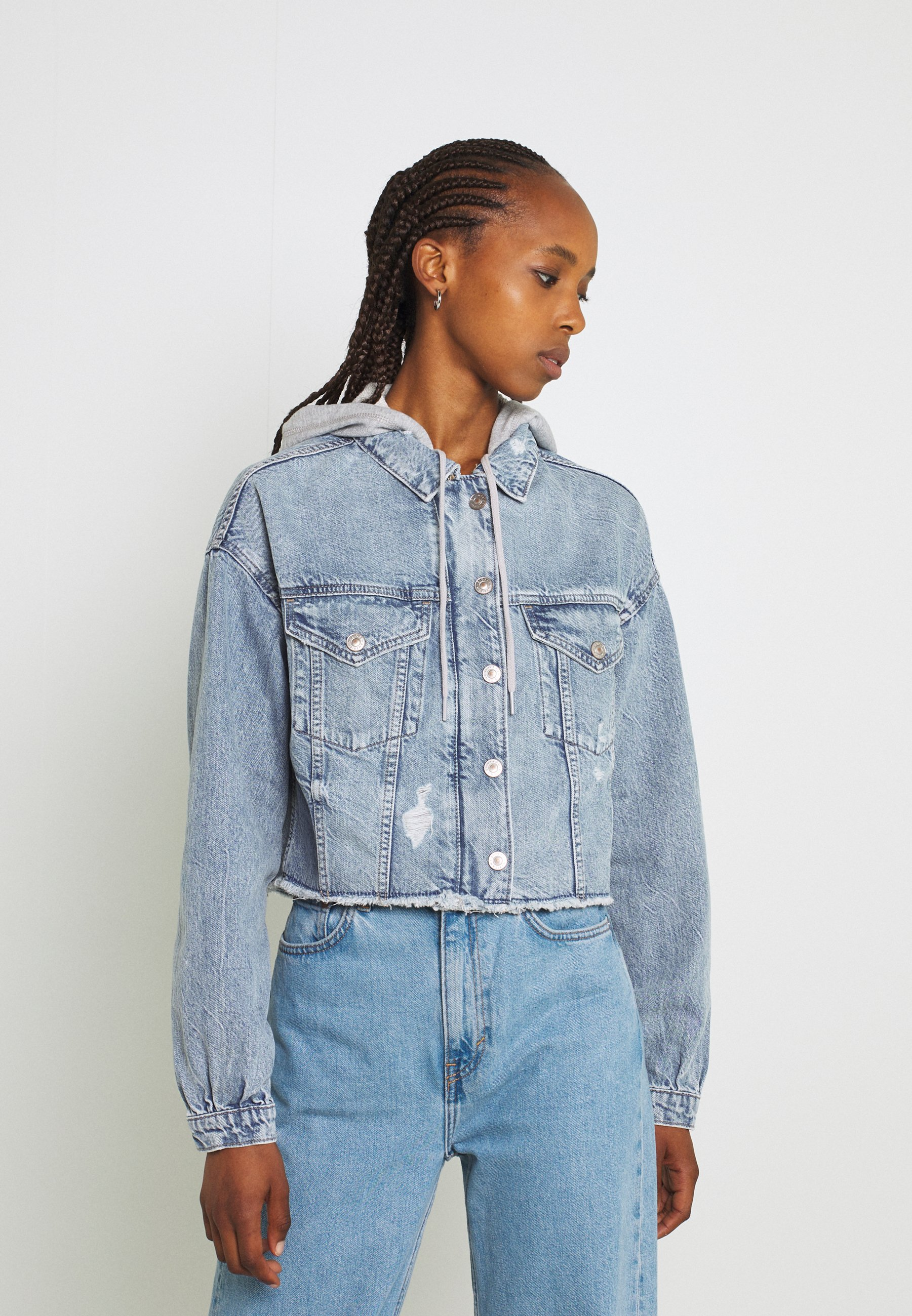 Donna HOODIE TRUCKER JACKET - Giacca di jeans