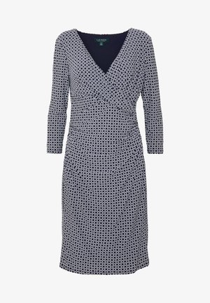 PRINTED MATTE DRESS - Vardagsklänning - lighthouse navy