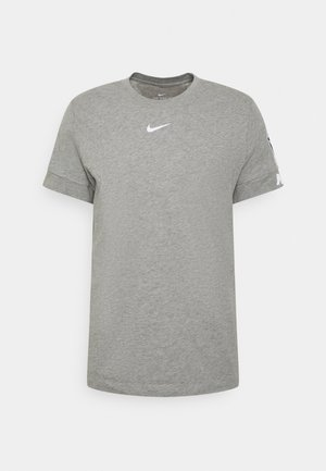 REPEAT TEE - Camiseta estampada - dk grey heather/white