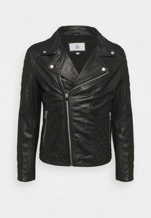 PERF MAN QUILT - Leren jas - black