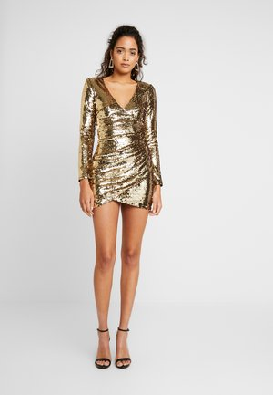 FLORES DRESS - Cocktail dress / Party dress - gold