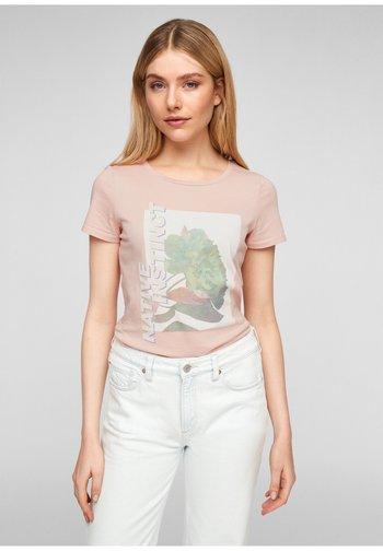 MIT FRONTMOTIV - Print T-shirt - rose