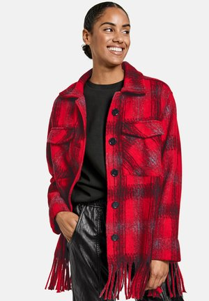 MIT KAROMUSTER - Classic coat - electric red gemustert