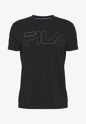 RICKI - Print T-shirt - black