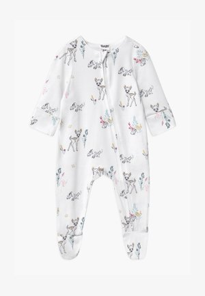 DISNEY BAMBI LONG SLEEVE ZIP UNISEX - Sleep suit - white