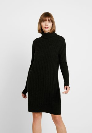 YASCAMPUS DRESS - Strikket kjole - black